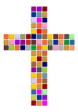 Colorful cross Stock Image