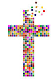 Colorful cross Royalty Free Stock Photography