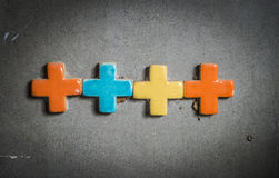 Colorful cross on the wall2 Royalty Free Stock Photography