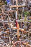 Colorful crosses at the hill of crosses Stock Images