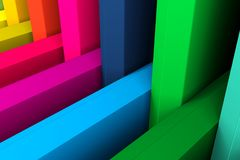 Colorful crosshair abstract background. 3d illustration royalty free illustration