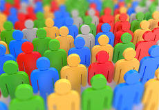 Colorful crowd Stock Image