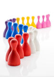Colorful crowd in line Royalty Free Stock Images