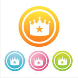 Colorful crown signs Stock Images