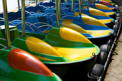 Colorful cruise boats Stock Image