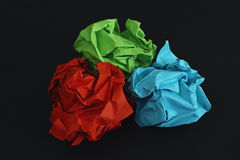Colorful crumpled paper balls Royalty Free Stock Photography