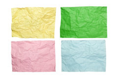 Colorful crumpled paper Stock Photos