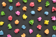 Colorful crumpled papers background Stock Photos