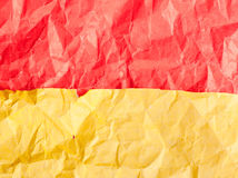 Colorful crumpled papers Royalty Free Stock Image