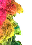Colorful crumpled polygons Royalty Free Stock Photo