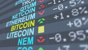 Free Colorful Crypto Currency E-market Monitor Royalty Free Stock Photos - 117640268