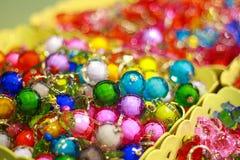 Colorful crystal bead stock photos