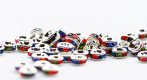 Colorful crystal beads for bracelets jewellery Stock Photo