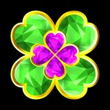 Colorful crystal clover Royalty Free Stock Photography