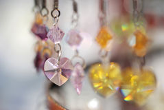 Colorful Crystal Earrings. Closeup of colorful crystal earrings Stock Image