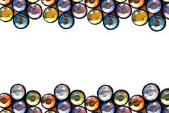 Colorful crystal frame Royalty Free Stock Image