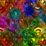 Colorful Crystal Gem Stone Rock Texture Stock Image