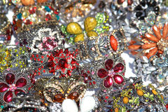 Colorful crystal jewelry Royalty Free Stock Image