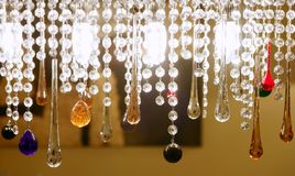 Colorful crystal strass lamp detai Stock Photos