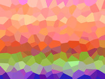 Colorful crystals. Colorful layered crystals Royalty Free Illustration
