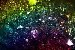 Colorful Crystals Background Stock Image