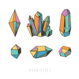 Colorful crystals and gems Royalty Free Stock Image