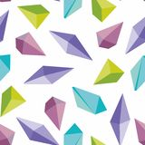 Colorful crystals. Seamless vector background. For design Royalty Free Stock Photos