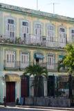 Colorful Cuban building in Havana, Cuba. Caribbean royalty free stock image