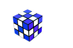 Colorful cube. On the white background Stock Photos