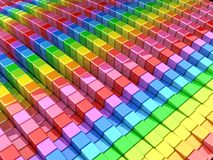 Colorful cube abstract background. 3d illustration Vector Illustration