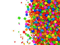 Colorful Cube Abstract Background. With place for your text Stock Photos
