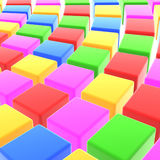 Colorful cube background Royalty Free Stock Photography