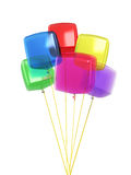 Colorful cube balloons Stock Photography