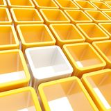 Colorful cube cell composition Royalty Free Stock Image