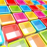 Colorful cube cell composition as abstract background. Abstract background made of colorful glossy cube cell composition Royalty Free Stock Photos