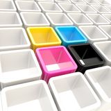 Colorful cube cell composition as abstract background Royalty Free Stock Image