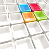 Colorful cube cell composition as abstract background Stock Images