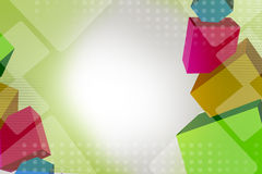 Colorful cube overlap, abstract background Stock Photography