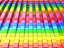 Colorful cube pattern background. 3d illustration Stock Illustration