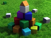 Colorful cubes Stock Photo