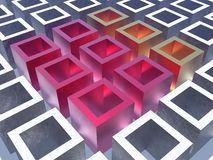 Colorful cubes. An illustration of colorful cubes Stock Images