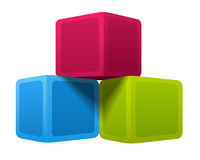 Colorful cubes. Vector illustration on white background Royalty Free Stock Images