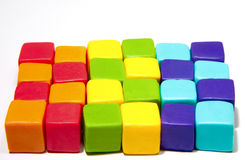 Colorful cubes. With paste on isolated background Royalty Free Stock Photos