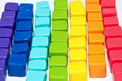 Colorful cubes. With paste lay out in to background Stock Photo