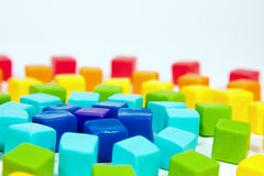 Colorful cubes. With paste on isolated background Royalty Free Stock Photo