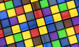 Colorful cubes Royalty Free Stock Photography