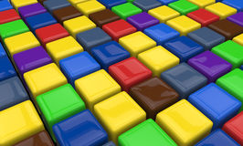 Colorful cubes Stock Image