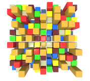 Colorful cubes Royalty Free Stock Photo