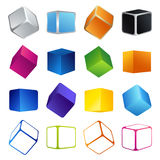 Colorful cubes Stock Images