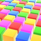 Colorful cubes Stock Photos